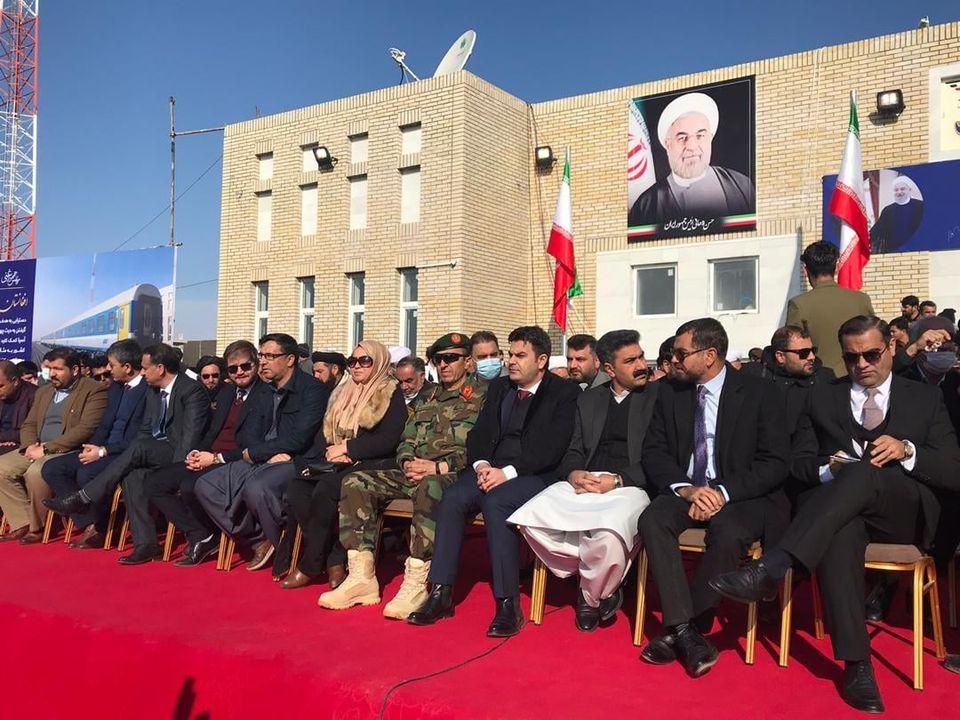 مراسم افتتاح خط آهن خواف- هرات به روایت تصویر